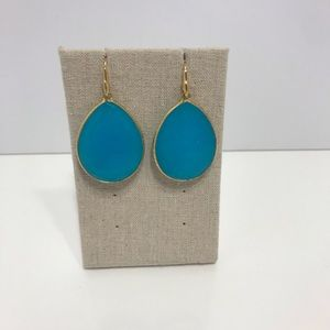 Stella dot blue stone drop earring.